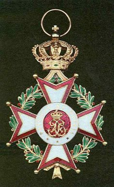 Monaco, Order of St. Charles, Grand Cross badge, 85 mm x 55 mm., gold and enamel, some adhesive on reverse, nearly extremely fine