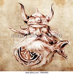 Viking Face Art Stockfotos und Viking Face Art Stockbilder - Alamy