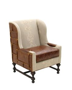 Silva Leather Wing Chair by Old Hickory Tannery at Horchow.