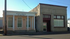 Halsey Oregon Former City Hall/library And Former Post Office.