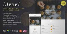Download and review of Liesel - Cafe, Dining and Bakery WordPress Theme, one of the best Themeforest Entertainment themes