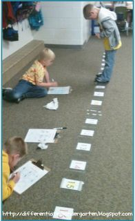 Differentiated Instructional Idea.  Math freebie that is tiered and meets the needs of your kinesthetic learners.