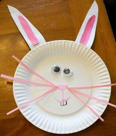 Paper Plate Bunnies -- Or a metal plate, with magnetic features, eyes, etc...lots of play