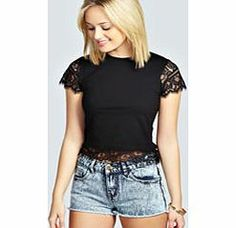 boohoo Lace Trim Tee - black azz29206 Transparent evening tops are everywhere this season. Shake it up in sheer shell tops, panelled shirts and cutting-edge crops. Add attitude in an A line skirt and slinky strappy heels . Statement separ http://www.comparestoreprices.co.uk/womens-clothes/boohoo-lace-trim-tee--black-azz29206.asp