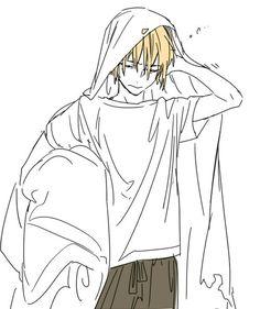 山姥切国広✨ Anime Neko, Anime Art, Boy Art, Touken Ranbu, Sword, Sketches, Drawings, Beautiful Men, Painting