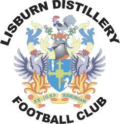 Lisburn Distillery of Northern Ireland crest. Northern Ireland Fc, British Football, Bristol City, Sports App, Soccer World, Sports Equipment, Distillery, Newcastle, Football Team