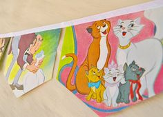 THE ARISTOCATS Banner Vintage Little Golden by collectingfeathers