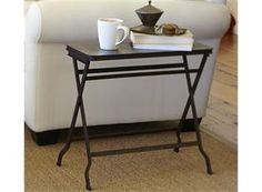 Carter Metal Folding Tray Side Table, Pottery Barn