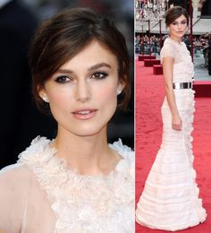 Keira Knightly romanced the Anna Karenina red carpet with her beautiful up-do. Stunning!