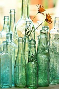 Bottles As Wedding Decor | Intimate Weddings - Small Wedding Blog - DIY Wedding Ideas for Small and Intimate Weddings - Real Small Weddings