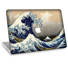 """Apple Macbook Air 11"""" 13"""" Decal Skin and Apple Macbook Pro 13"""" 15"""" Decal Skin - The Great Wave"""