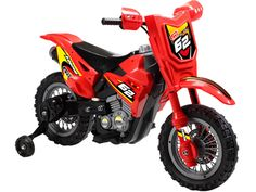 Mini Motos Dirt Bike 6v (Red) - Electric Battery Powered Ride On Toy Motorcycle