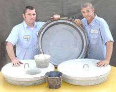 "Check out this 24"" Man Hole Lid Form at delzottoproducts.com!"