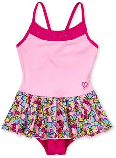 3bbe7b5c50d9c (Girls 4-6x) Bows Skirted One-Piece Swimsuit. Jojo Siwa ...