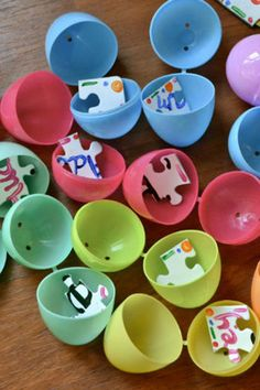 Puzzle Piece Easter Egg Hunt: This is yet another sugar-free alternative. Use plastic eggs to hold puzzle pieces, which youngsters can assemble once they've found them all.