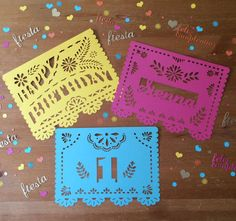 Happy Birthday Fiesta Garland Fiesta Custom by Vintagebabydoll