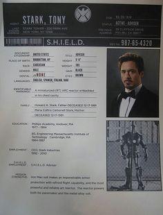 S.H.I.E.L.D. File On Tony