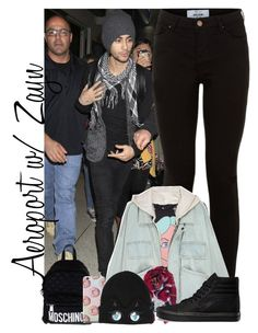 """""""Aeroport with Zayn"""" by maria-eduarda-fortunatti ❤ liked on Polyvore featuring beauty, New Look, Humble Chic, Vans, Moschino and Karl Lagerfeld"""