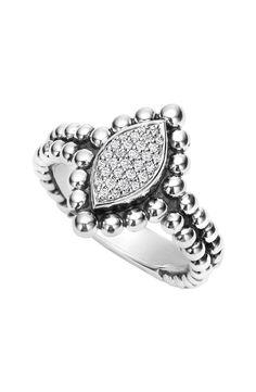 Caviar Spark Diamond Marquise Ring