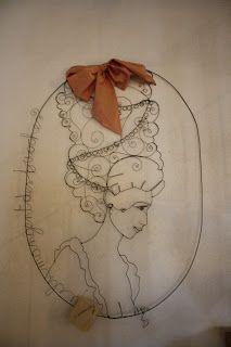 hopersoilfilo: le mie creazioni in filo di ferro : Marie Antoinet...