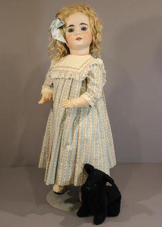 ANTIQUE GERMAN BISQUE DOLL by BAHR & PROSCHILD with Little Black Dog |  | eBay!