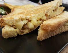 Sandwich de Comté con cebolla caramelizada y  foie en @lamajadaquesos