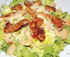 Salát Caesar / Caesar Salad Finger Foods, Pasta Salad, Salad Recipes, Salads, Meat, Chicken, Crab Pasta Salad, Finger Food, Salad