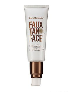 bareMinerals Faux Tan Face: This formula contains plant-derived emollients that will lock in moisture without clogging pores. $24; ulta.com
