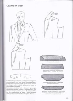 Arsip Album Mens Sewing Patterns, Coat Patterns, Clothing Patterns, Sewing Tutorials, Suit Pattern, Jacket Pattern, Tailoring Techniques, Sewing Techniques, Modelista
