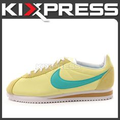 the best attitude 501d4 bd68d Nike Wmns Classic Cortez Nylon 457226 700 NSW Running Yellow Turquoise    eBay
