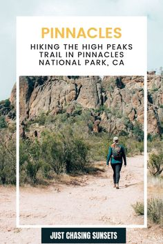 Hiking in Pinnacles National Park is one of the best things to do there. And in this guide, I share with you the best hikes in Pinnacles National Park, tips for completing them, and so much more! California Travel Guide, California Destinations, Backpacking Trails, Hiking, Beautiful Places To Visit, Cool Places To Visit, Travel For A Year, Best Hikes, Travel Alone