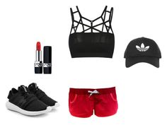 """At the gym..."" by klaudia539 ❤ liked on Polyvore featuring adidas Originals, Christian Dior and Topshop"