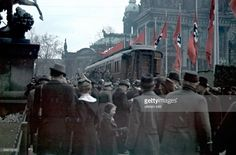 German citizens gather to view the saloon car of Compiegne, initially used by France in 1919 for German military officials to sign the humiliating armistice which solidified their defeat. Ironically, following the incredible German triumph over France in the Summer of 1940, Hitler specifically ordered this very same train car to be brought out for French officials to sign an armistice of their own. As seen here, it was later brought to Lustgarten in Berlin for the public to admire. Winter…
