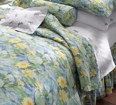 Cotton Percale Lily Pad Bedding - cool, crisp, comfortable