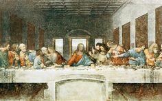The Last Supper by Leonardo Da Vinci Menselijk (geen nimbus, raam als lichtend aureool) emotioneel. Jezus als middelpunt. Fresco als onderdeel van de eetzaal in de ruimte.