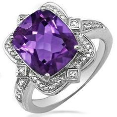 Jared Jewelers amethyst and white gold, $750 http://m.jared.com/en/jaredstore/gemstones/color-stone-ring-732541000291196/100237/~/100237.100238.100242