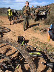 Sadly the current state of mountain biking in Sycamore Canyon, San Diego, where we had ridden for nearly 30 years prior to Marines taking over