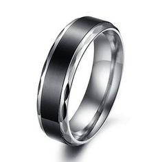 Korean ring Personal black simple Retro titanium steel couple rings -one for men only-Size 8 Promise Rings For Couples, Couple Rings, Gold And Silver Bracelets, Silver Rings, Wedding Band Sets, Wedding Rings, Wedding Jewelry, Cool Rings For Men, Steampunk Rings