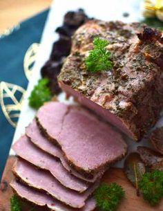 Przepis na karkówka w musztardowej marynacie pieczona w rękawie - MniamMniam.com Steak, Pork, Beef, Desserts, Recipes, Hams, Mushrooms, Bakken, Kale Stir Fry