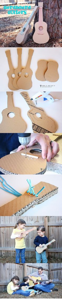 DIY Cardboard Guitar DIY Projects | UsefulDIY.com