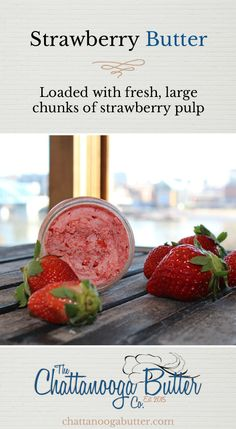 Loaded with fresh, large chunks of strawberry pulp, our Strawberry Butter is pure perfection. Try it with warm biscuits and jelly. A customer favorite!