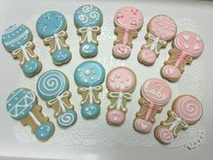 Gender Reveal decorated sugar cookies by I Am the Cookie Lady