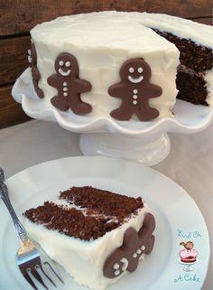 Chocolate  Christmas Gingerbread Men Cake