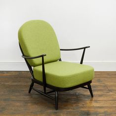 Ercol Windsor Chair – Reloved Upholstery & Design Ercol Furniture, Green Wool, Vintage Chairs, Mid Century Design, Chair Cushions, Accent Chairs, Restoration, Upholstery, New Homes