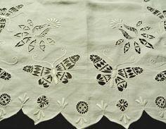 hedebo ヘデボ刺繍 テーブルセンター ホワイトワーク