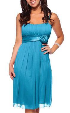 Designer Flowy Pleated Evening Prom Cocktail Formal Dress