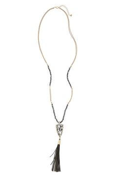 Panacea Stone & Tassel Pendant Necklace available at #Nordstrom