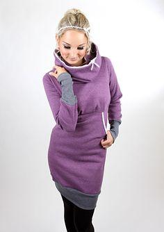 Entdecke lässige und festliche Kleider: MEKO Marla Kleid Lila Damen Spitze Kapuze made by meko Store via DaWanda.com