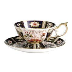 Royal Crown Derby - Traditional Imari Giftware - Tea Cup & Saucer - Elizabeth