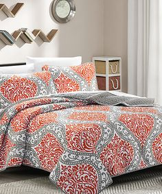 look at this spice gray celtic bibb home reversible quilt set on zulily today quilt setsbedroom dcorbedroom